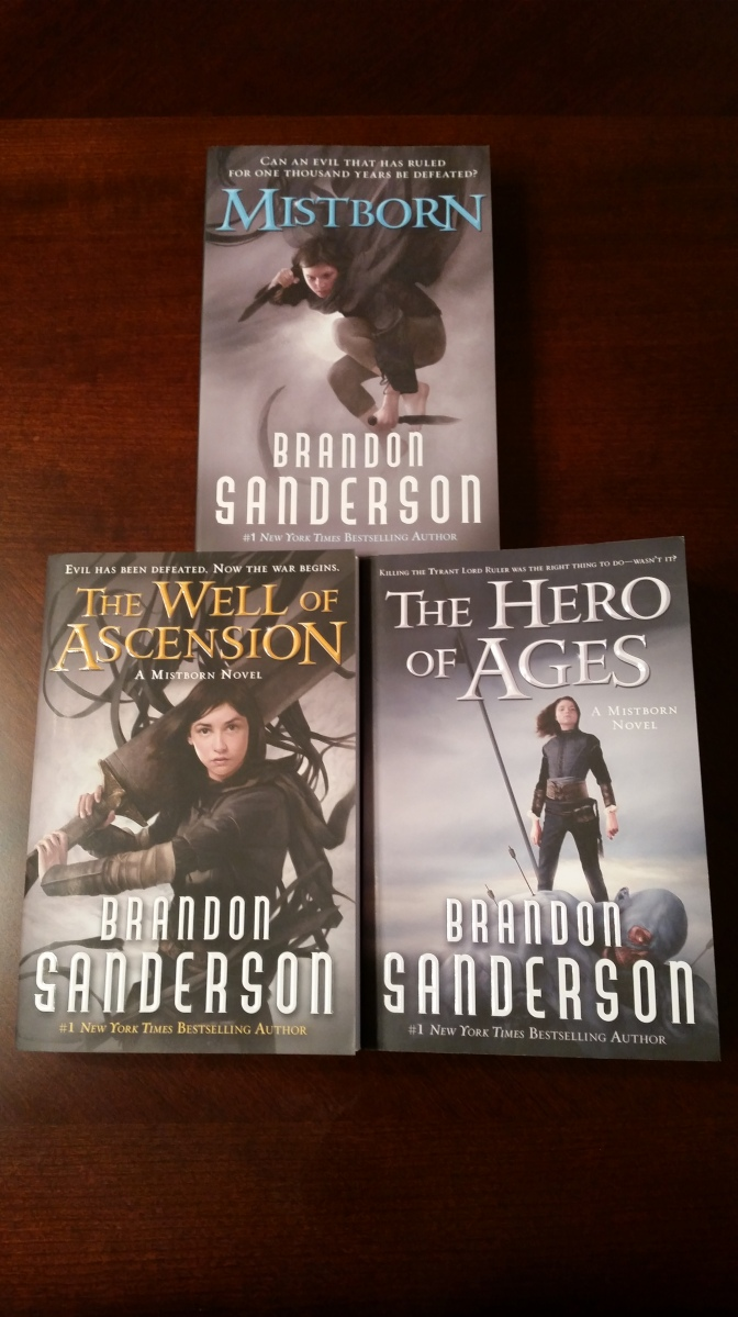 New books received: Mistborn Trilogy by Brandon Sanderson