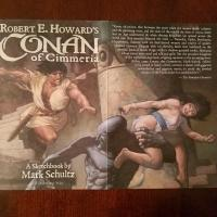 Book Haul/Spotlight – Robert E. Howard's Conan of Cimmeria: A Sketchbook by Mark Schultz